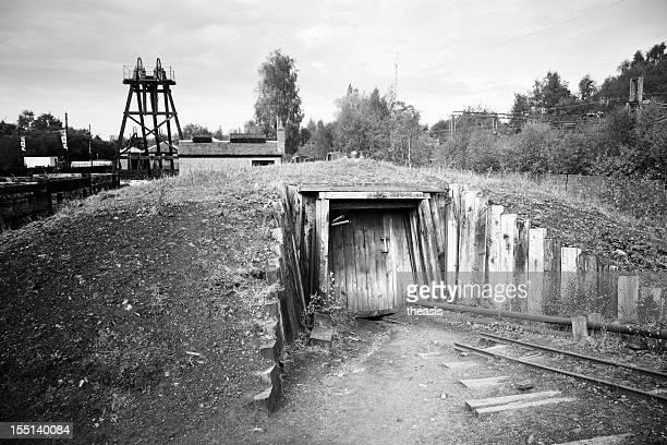 coal mine entrance - theasis bildbanksfoton och bilder