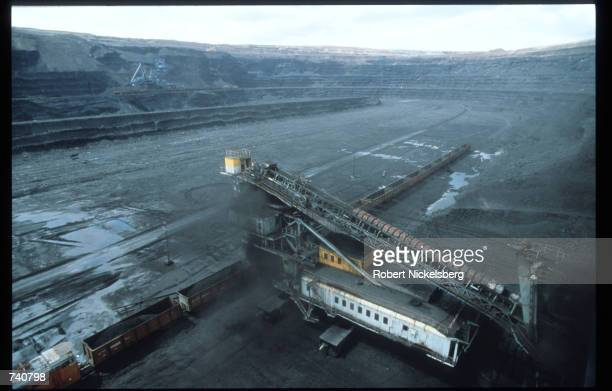 A coal mine is on display September 1994 in Ekibastuz Kazakhstan Kazakhstan contains vast mineral resources and has a large reserve of petroleum and...