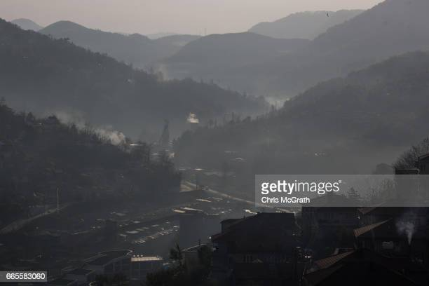Coal mine is seen on April 6, 2017 in Zonguldak, Turkey. More than 300 kilometers of coal mineÕs riddle the mountains of Zonguldak. The coal-mining...