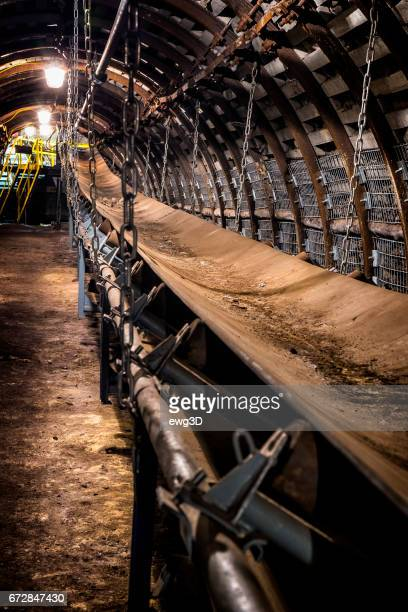 Coal mine underground corridor with belt conveyor