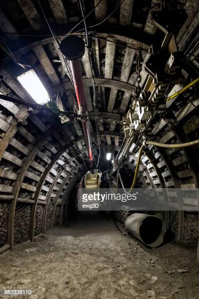 Coal mine underground corridor with electrical equipment