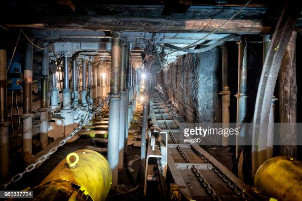 Coal mine underground corridor with modern steel support system