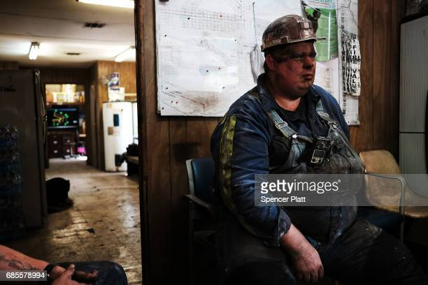 Coal miner Doug Rutherford takes a break after his shift at a small mine on May 19 2017 outside the city of Welch West Virginia West Virginia a state...
