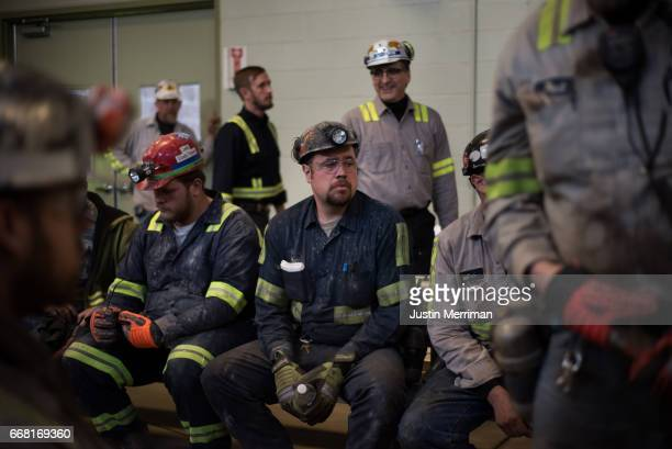 Coal miner Matt Wolfe of Blacksville West Virginia who has been mining for 10 years waits for the arrival of US Environmental Protection Agency...