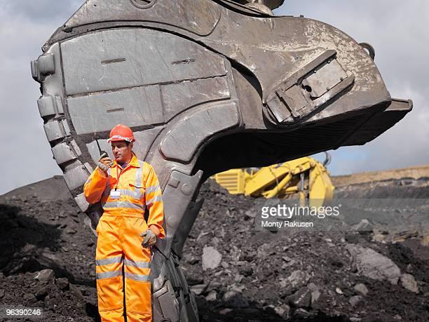 Coal Miner With Walkie Talkie