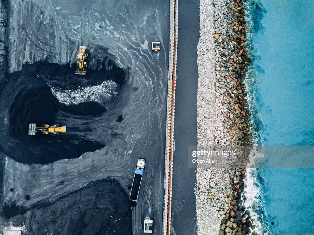 Coal mineral exploitation : Stock Photo