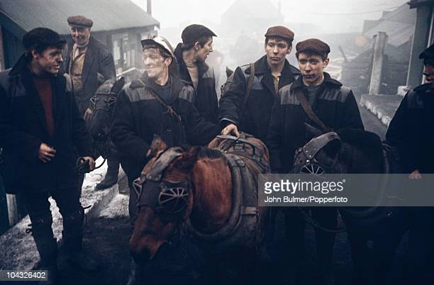 Coal miners in Waldridge a village in County Durham circa 1963