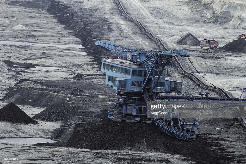 Extracção de carvão a Céu Aberto : Foto de stock