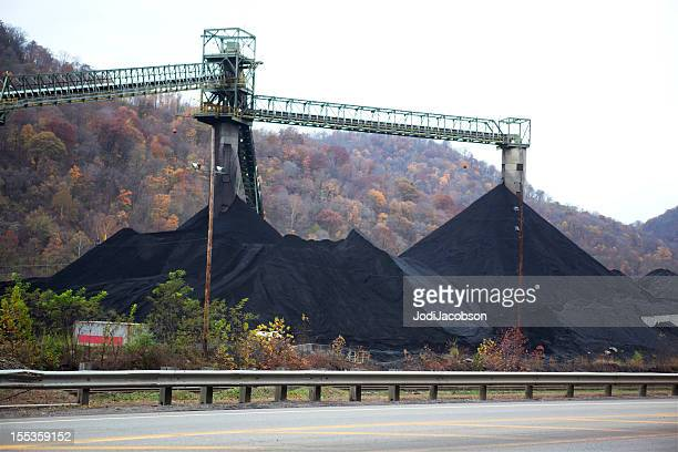 coal mining in west virginia - coal mining stock photos and pictures
