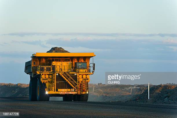 coal mining truck on haul road - queensland stock pictures, royalty-free photos & images
