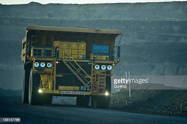 Coal Mining Truck on Haul Road