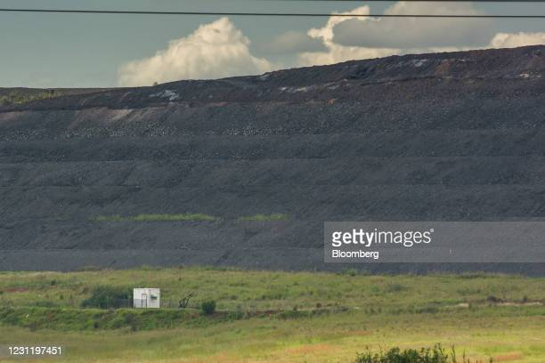 Coal pile at the Goedehoop coal mine, operated by Anglo American Plc, in Mpumalanga, South Africa, on Tuesday, Jan. 12, 2021. In South Africa, for...