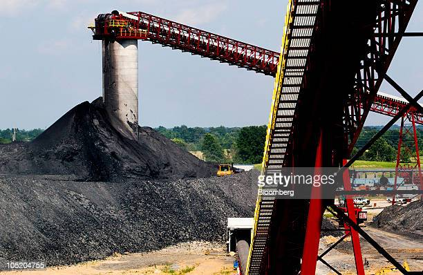 Coal piles sit at Foresight Energy LLC's Sugar Camp coal mine in Benton Illinois US on Monday June 21 2010 In 2002 Foresight Energy owner Chris Cline...