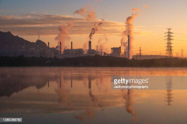coal power plant, mae moh power plant, lampang, thailand - south east asia stock pictures, royalty-free photos & images