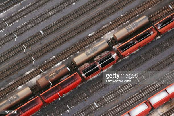 coal, salt, and potash on a freight train - potash stock pictures, royalty-free photos & images