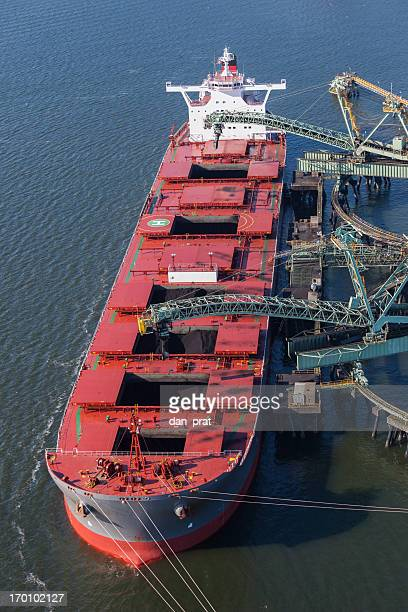 Coal Ship Being Loaded