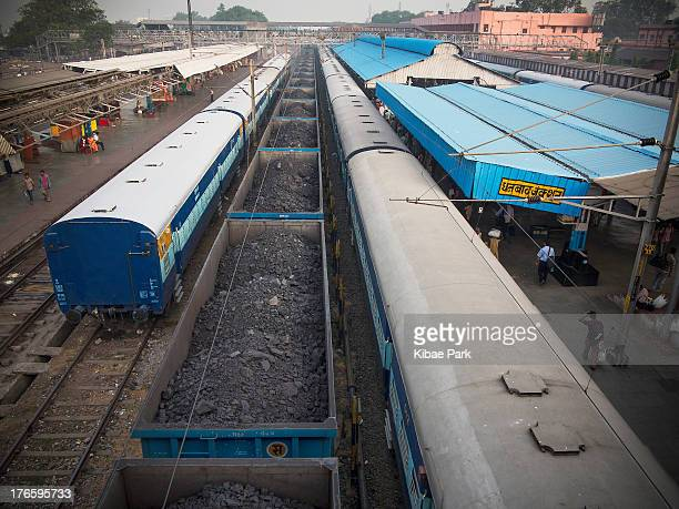 CONTENT] Coal shipped on train for transport at the Dhanbad Junction Railway Station of Jharia Jharia hold the biggest coal mines in India and is one...