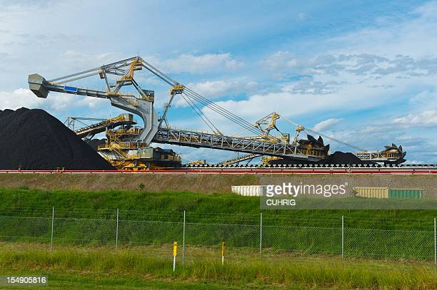 Coal Stacker Reclaimer on loading site in hunter