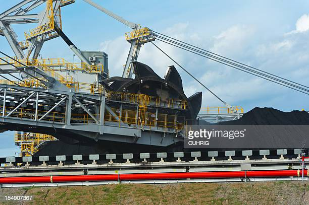 Coal Stacker Reclaimer on loading site in hunter