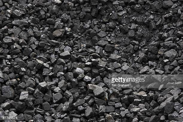 Coal supply for locomotives at Toddington Railway Station in Gloucestershire United Kingdom