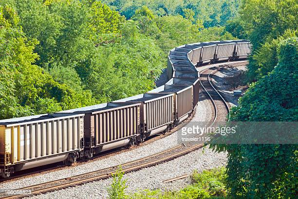Coal Train In Nature
