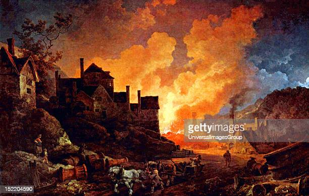 Coalbrookdale by Night Philippe Jacques de Loutherbourg 1801 Coalbrookdale is a village in the Ironbridge Gorge in Shropshire England