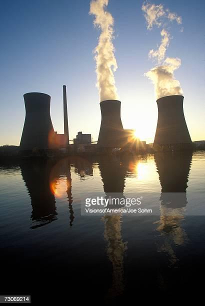 'Coal-fired John Amos Power Plant on Kanoa River, WV'