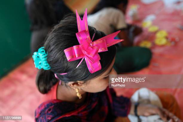 A coalition of NGOs organized empowerment activities for Rohingya Refugee women and girls in Rohingya camp in Coxs Bazar Bangladesh on February 14...