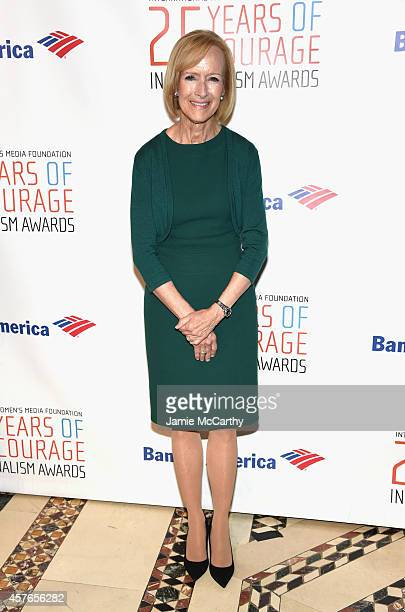 CoAnchor and Managing Editor of PBS Newshour Judy Woodruff attends the International Women's Media Foundation Awards Luncheon at Cipriani 42nd Street...