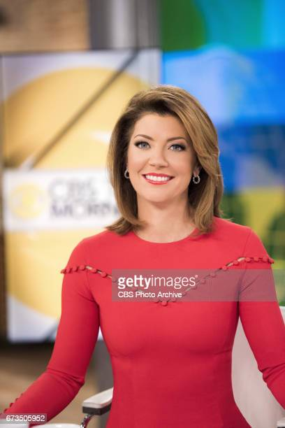 MORNING Coanchor Norah O'Donnell in New York on the CBS Television Network