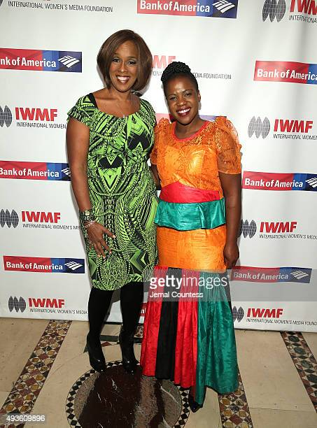 Coanchor of CBS This Morning and an editoratlarge for O The Oprah Magazine Gayle King and journalist Mwape Kumwenda attend the International Women's...