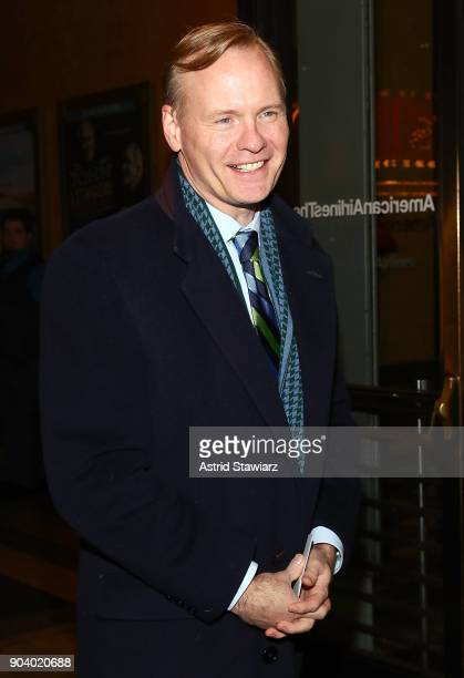 Coanchor of ÒCBS This Morning' John Dickerson attends 'John Lithgow Stories By Heart' opening Night at American Airlines Theatre on January 11 2018...