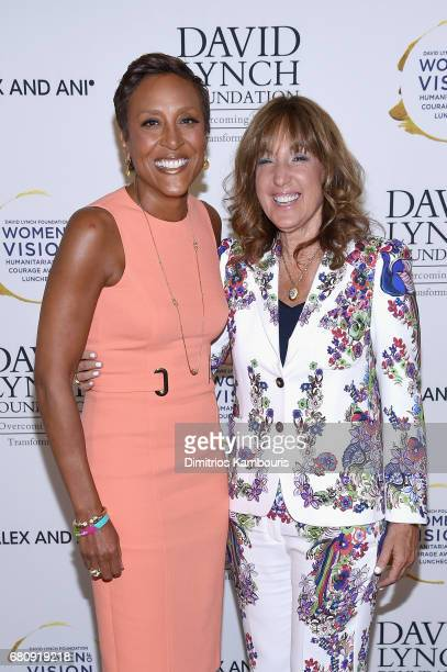 "Coanchor of GMA Robin Roberts and Joanna Plafsky attend David Lynch Foundation Hosts ""Women of Vision Awards"" at 583 Park Avenue on May 9 2017 in New..."