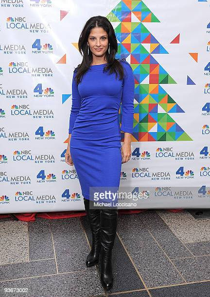 Coanchor of WNBC's Today in New York Darlene Rodriguez attends WNBC's Rockefeller Center Tree Lighting celebration at Rock Center Cafe on December 2...