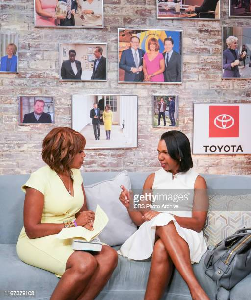 CoAnchors Gayle King Anthony Mason and Tony Dokoupil interview Condoleezza Rice live on September 10 2019