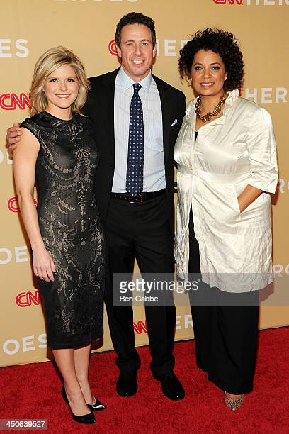 Coanchors Kate Bolduan Chris Cuomo and Michaela Pereira attend the 2013 CNN Heroes at the American Museum of Natural History on November 19 2013 in...