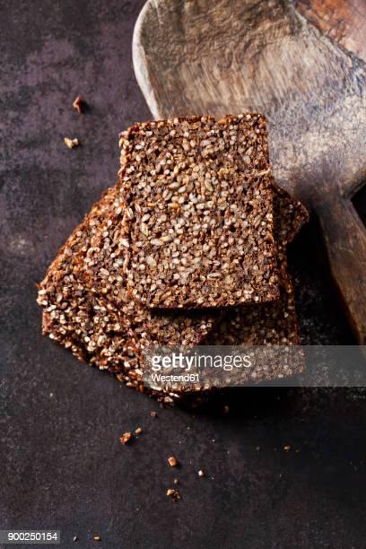Coarse rye whole meal bread