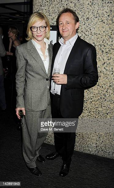 Coartistic directors of the Sydney Theatre Company Cate Blanchett and husband Andrew Upton attend an after party celebrating the press night...