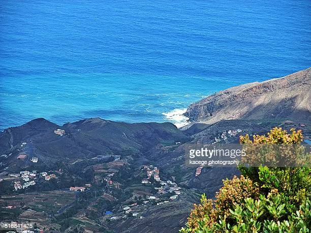 coast and blue sea - escarpment stock pictures, royalty-free photos & images