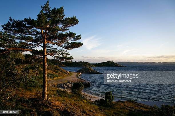 Coast and the sea at Kristiansand in Norway on July 06 2015
