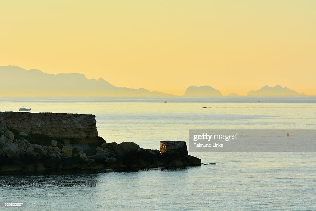 Coast at Dawn in Summer : Stock Photo
