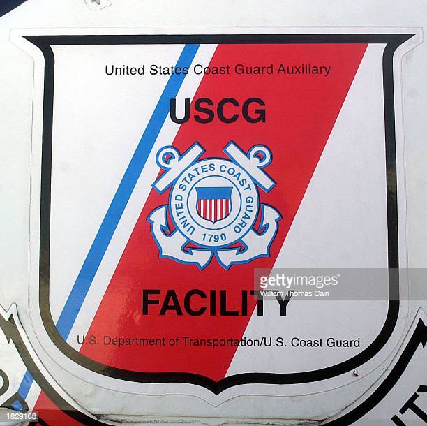Coast Guard Auxiliary insignia is seen on the aircraft of Cmdr John Friedlander of Berkeley Heights New Jersey before the start of a marine domain...