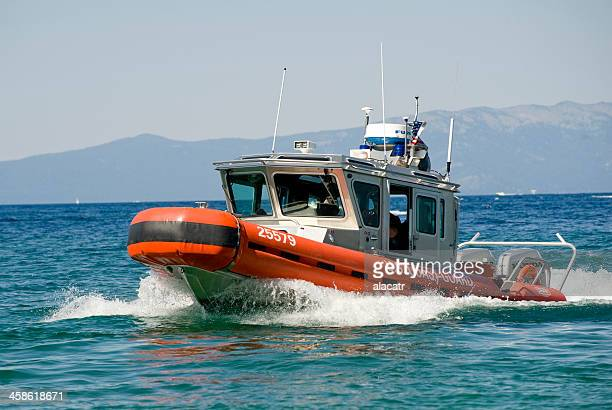 coast guard boat, lake tahoe - coast guard stock pictures, royalty-free photos & images
