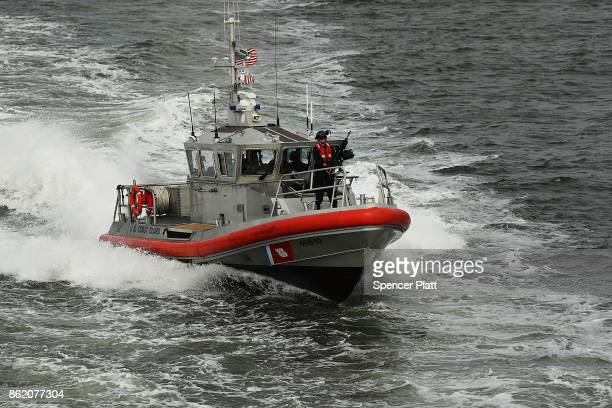 Coast Guard boat patrols in New York harbor on October 16 2017 in New York City The US Department of Justice has claimed that New York City is...