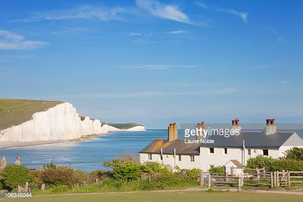 Coast Guard cottages Seven Sisters; East Sussex;