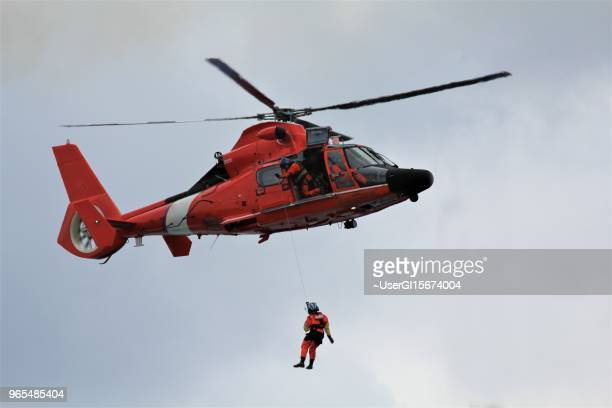 coast guard emergency medical rescue from a cruise ship - coast guard stock pictures, royalty-free photos & images