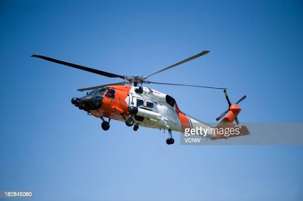 Garde-côte en hélicoptère