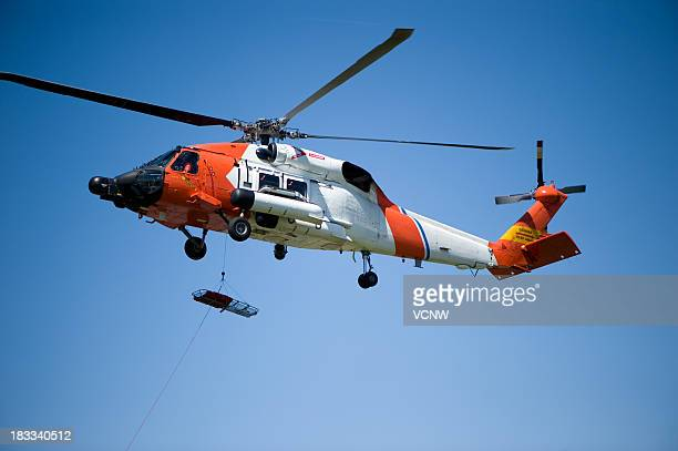 coast guard helicopter - medevac stock photos and pictures