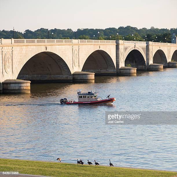 U.S. Coast Guard on Potomac River, Washington DC
