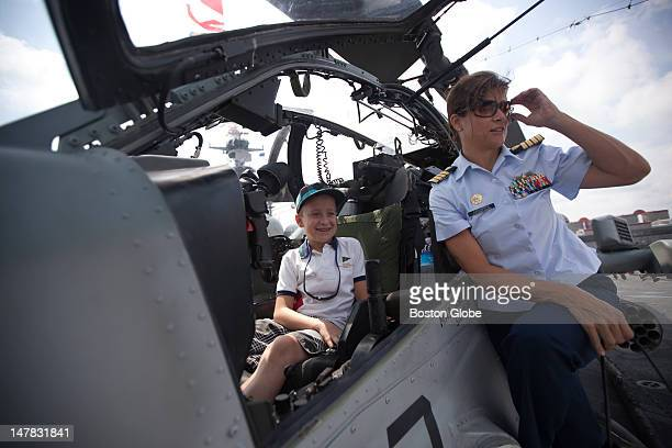 S Coast Guard Reserves Captain and Author Martha LaGuardiaKotite who is currently studying journalism at Harvard poses for a picture with her...
